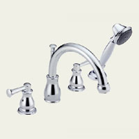 Two Handle Roman Tub Faucet with Handshower